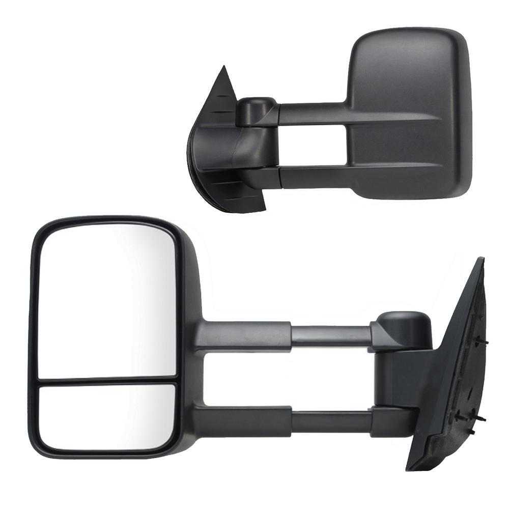 Towing Mirror for 07-14 Escalade/Silverado/Sierra/Hybrid/Tahoe/Yukon 07-13 Avalanche Dual Lens Black Pair