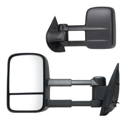 Towing Mirror for 07-14 Escalade/Silverado/Sierra/Hybrid/Tahoe/Yukon 07-13 Avalanche Dual Lens Black Pair