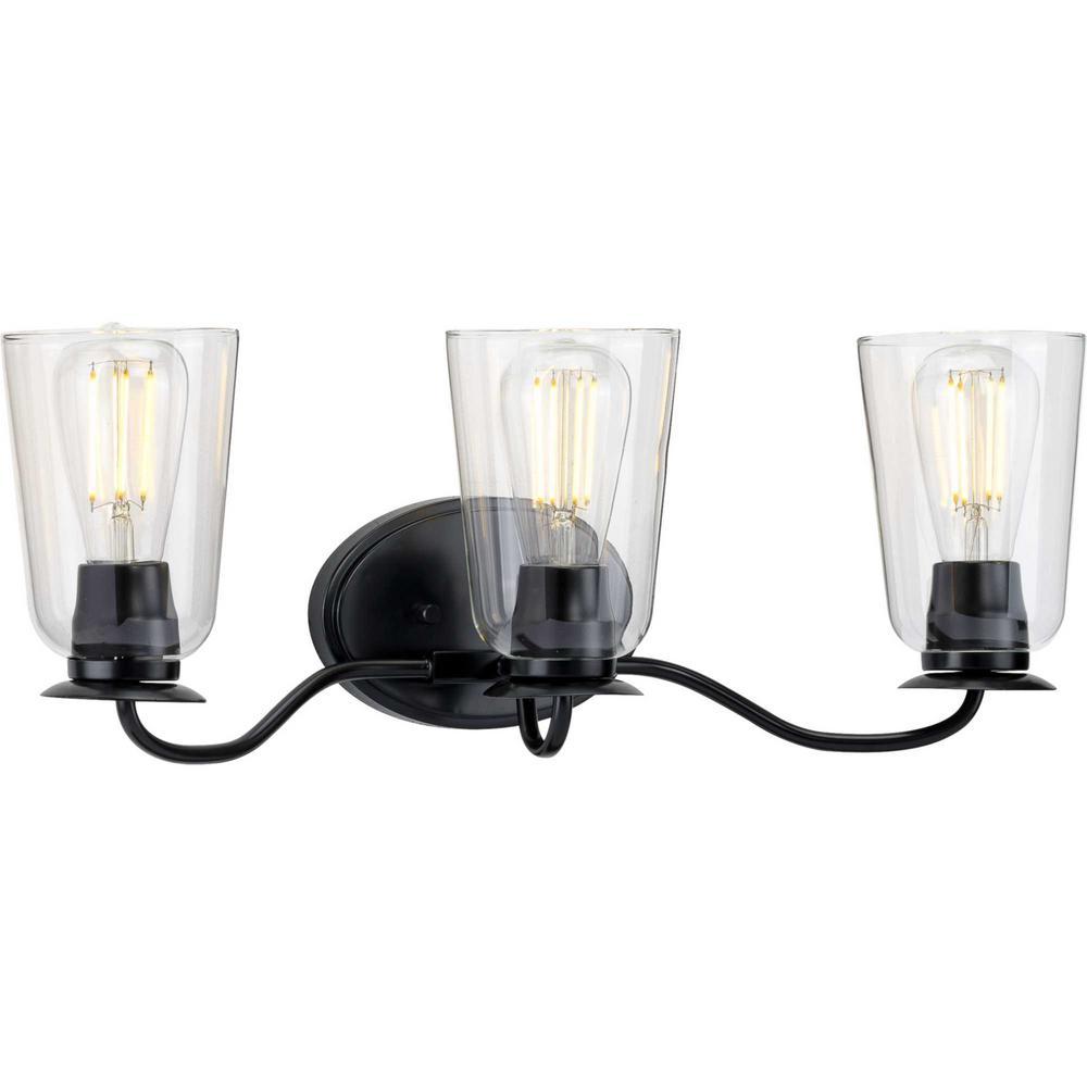 Durrell 3-Light Black Bath Light