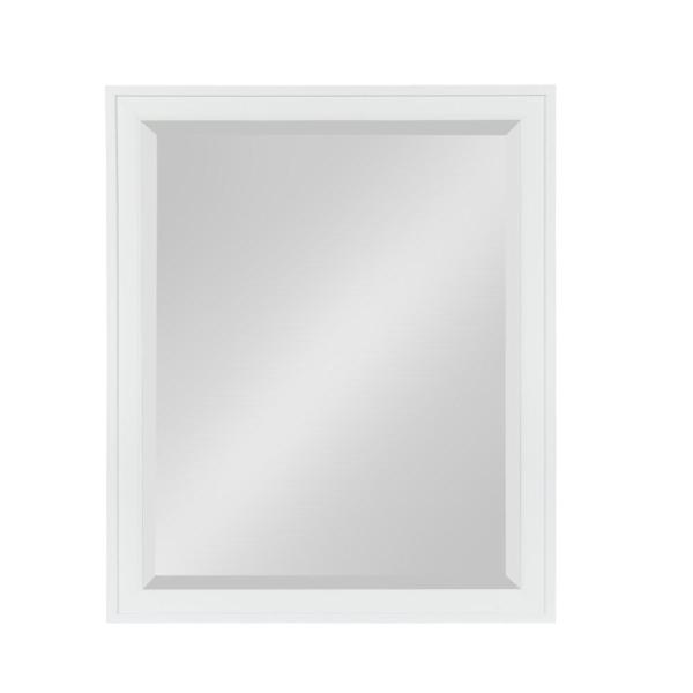 DesignOvation Bosc Rectangle White Mirror
