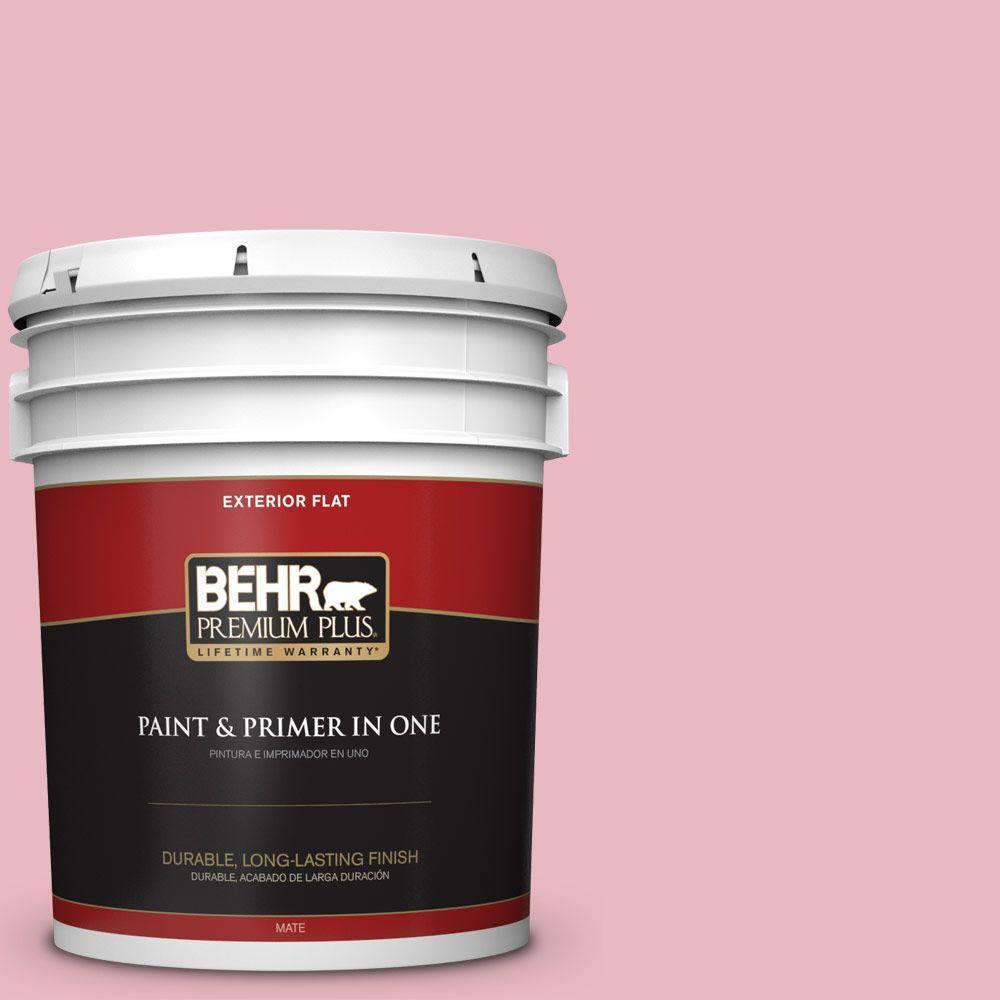 BEHR Premium Plus 5 gal. #M150-2 Peppermint Stick Flat Exterior ...