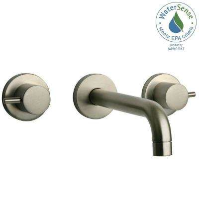 Elba 8 In. 2 Handle Mid Arc Bathroom Faucet In Brushed Nickel