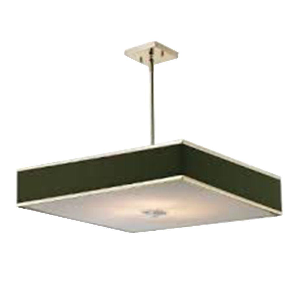 Filament Design Lawrence 3-Light Brushed Nickel Incandescent Ceiling Pendant