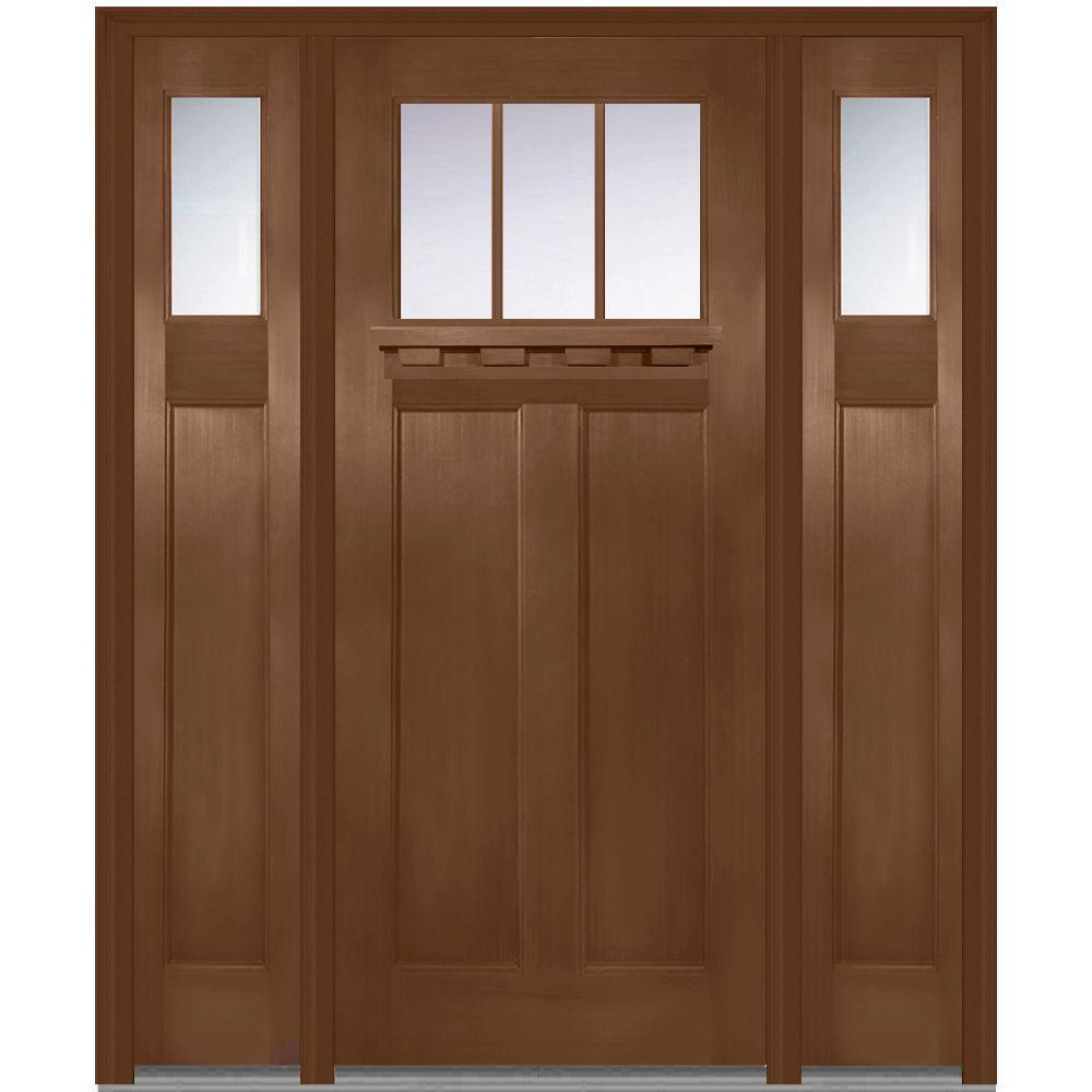 mmi door 64 in x 80 in right hand craftsman 1 4 lite. Black Bedroom Furniture Sets. Home Design Ideas