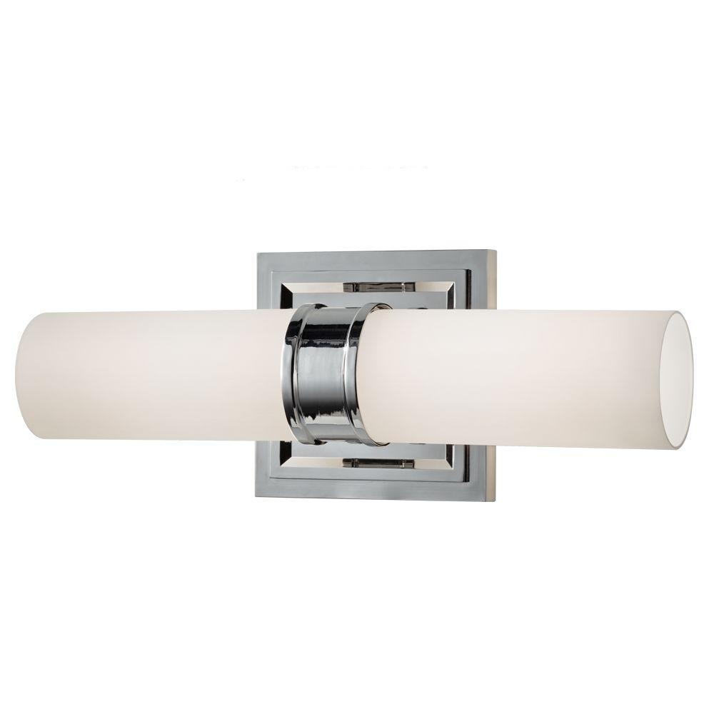 Feiss Lucas 2-Light Polished Nickel Vanity Light