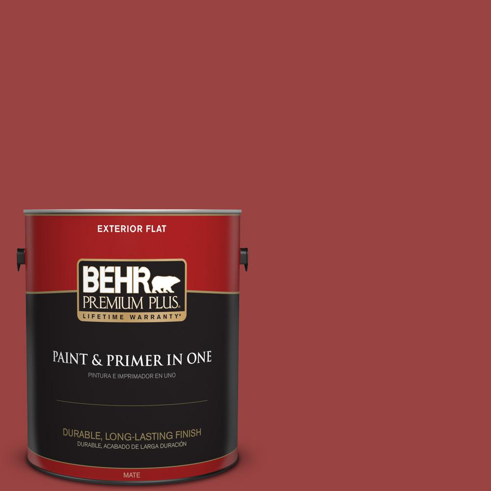 1 gal. #MQ1-10 Red My Mind Flat Exterior Paint and Primer