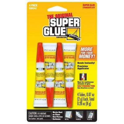 0.07 oz. Super Glue, (4) 0.07 oz. Tubes per card, Case pack of 12 cards