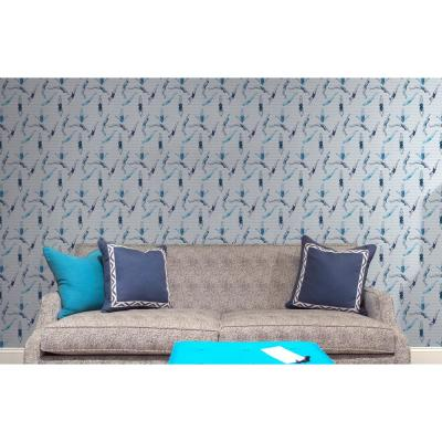 Debut Collection Divers in The Blues Removable and Repositionable Wallpaper