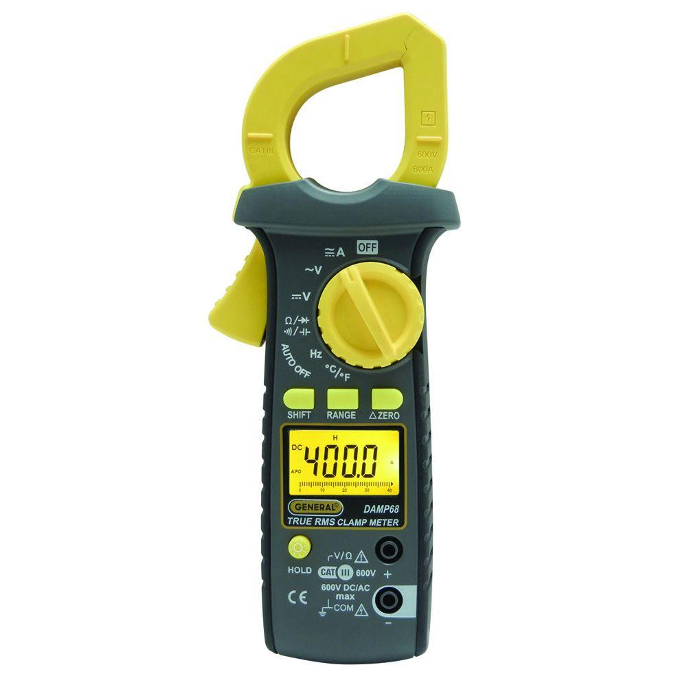 Auto Meter Clamp : General tools amp ac dc auto ranging clamp meter with