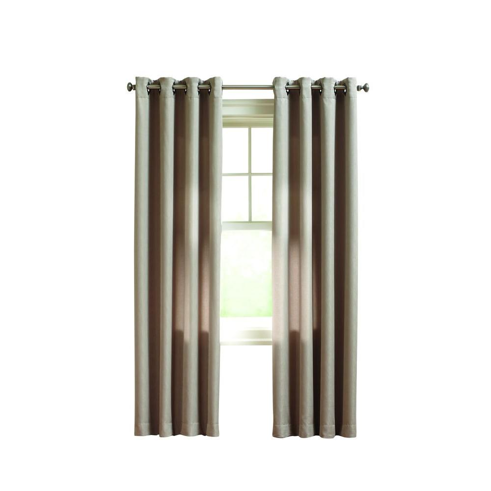 Home Decorators Collection Tan Briarhill Room Darking Curtain - 50 in. W x 108 in. L