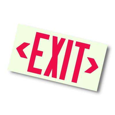 Nexis Red Unframed Photoluminescent Exit Sign