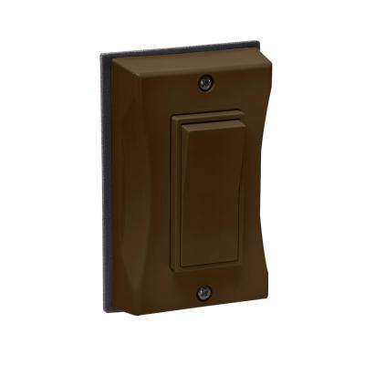 Bronze 1-Gang Weatherproof Decorator Cover
