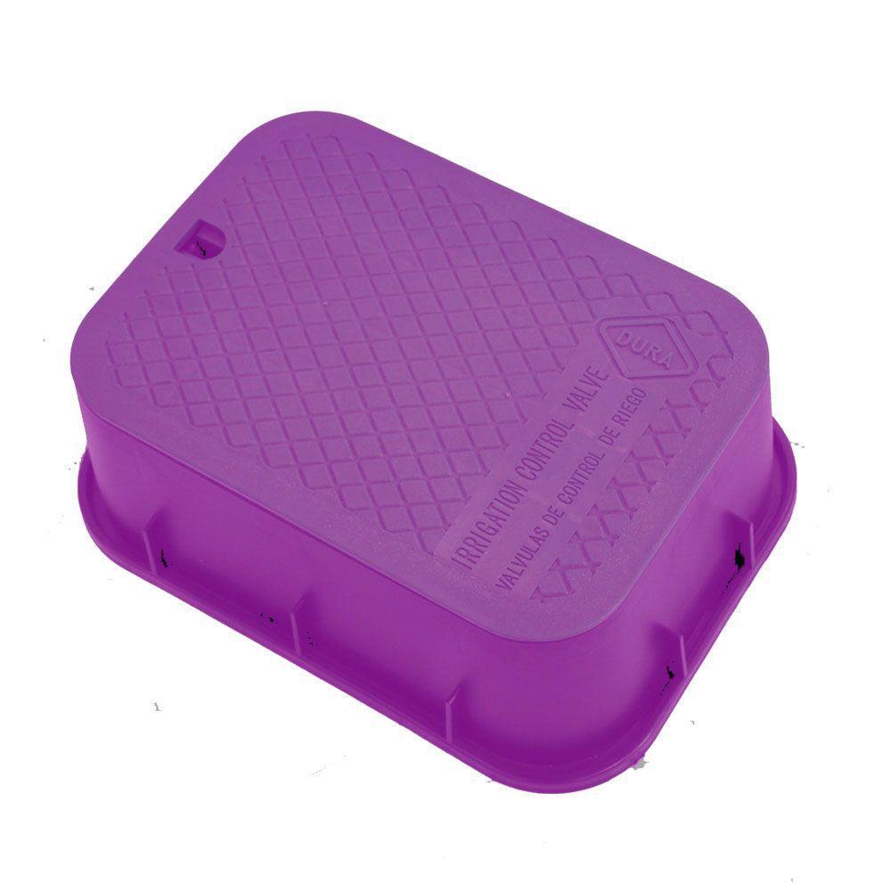 15 in. x 21 in. x 6 in. Deep Extension Valve Box in Purple Body Purple Lid