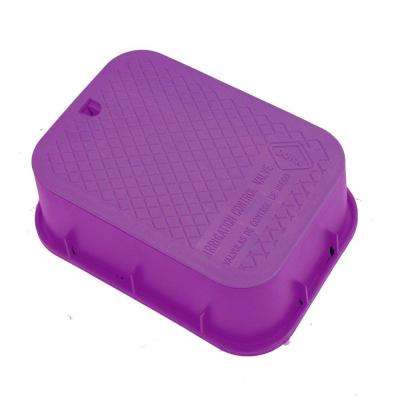 15 in. x 21 in. x 6 in. Deep Extension Valve Box in Purple Body Purple Lid