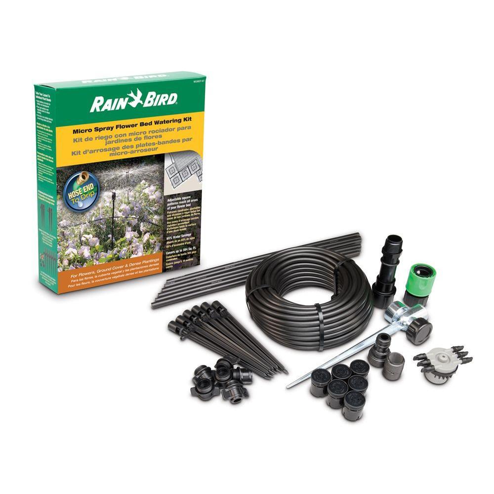 Rain Bird Micro Spray Flower Bed Watering Kit, Blacks