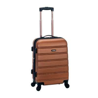 Melbourne 20 in. Expandable Carry on Hardside Spinner Luggage, Brown