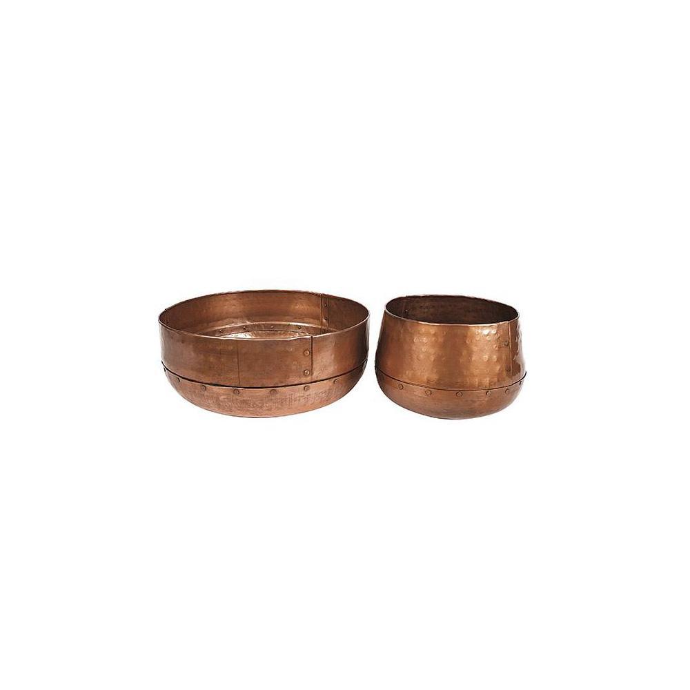 3R Studios Hammered Copper Decorative Bowls (Set of 2) DE4169