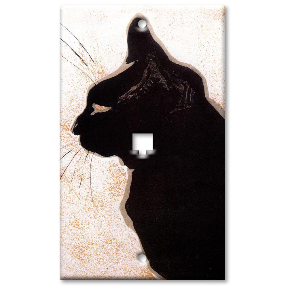 Art Plates Les Chats Phone Jack Wall Plate