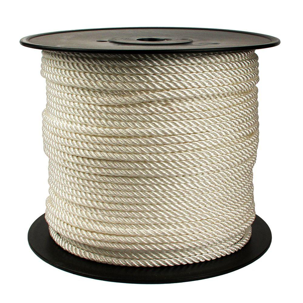 5/16 in. x 650 ft. Twisted Polypropylene Rope in White