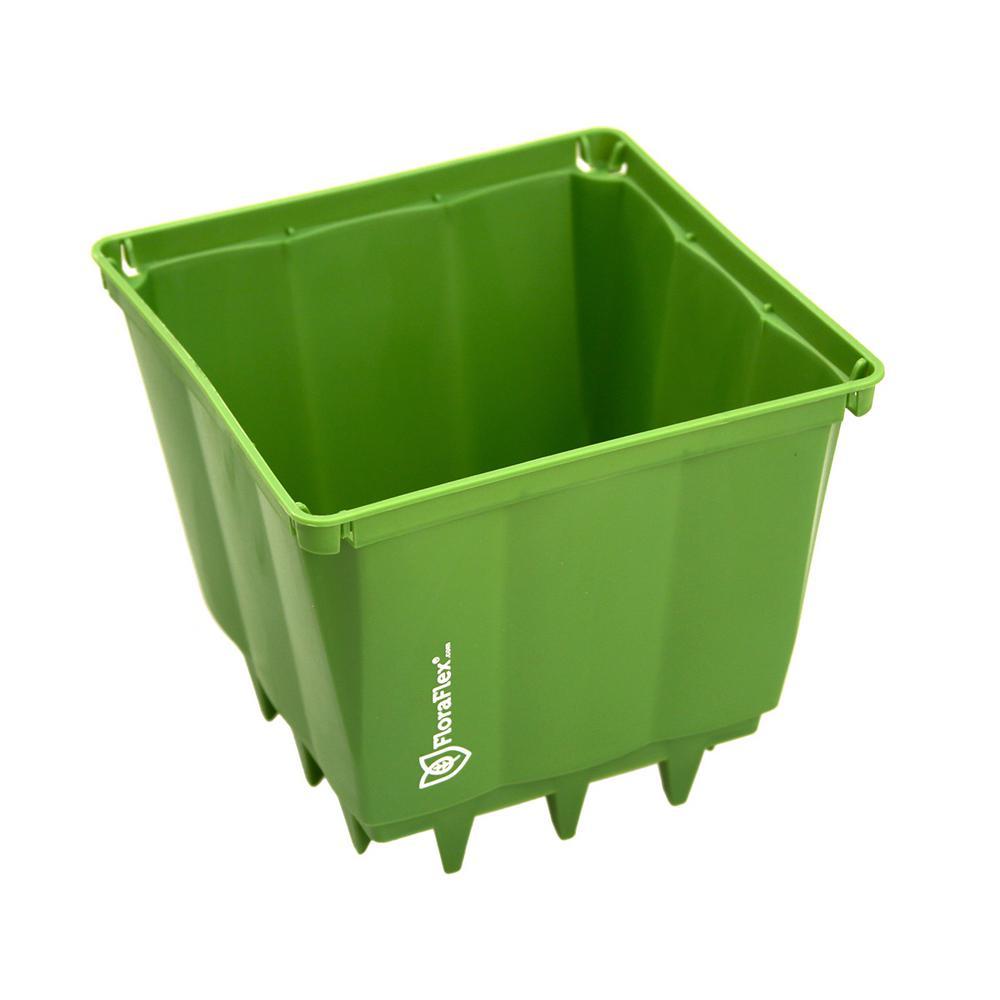 PotPro 6 in. Green Plastic Pot (10-Pack)