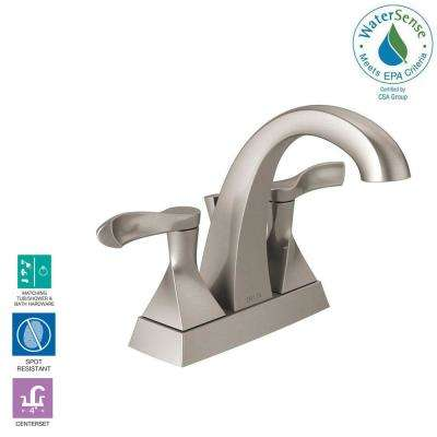 Everly 4 in. Centerset 2-Handle Bathroom Faucet in SpotShield Brushed Nickel