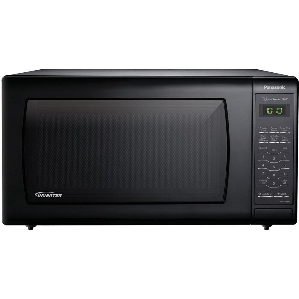 Panasonic 1 6 Cu Ft Countertop Microwave In Black Built Capable With