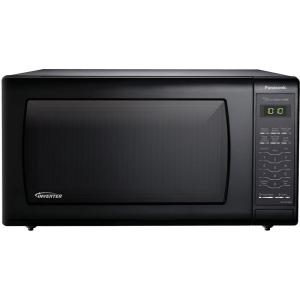 Panasonic 1.6 cu. ft. Countertop Microwave in Black, Built-In Capable with Sensor Cooking and Inverter Technology by Panasonic