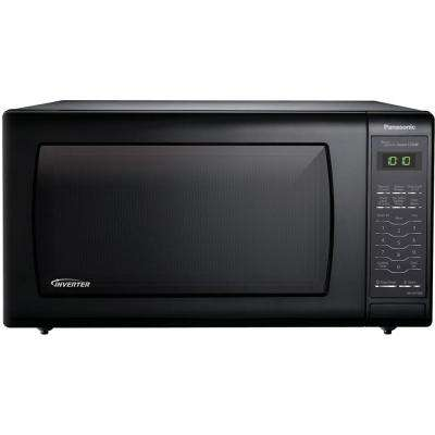 1.6 cu. ft. Countertop Microwave in Black, Built-In Capable with Sensor Cooking and Inverter Technology