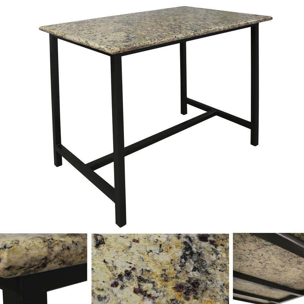 Paradise Luxury Rectangle Granite Patio Bistro Table