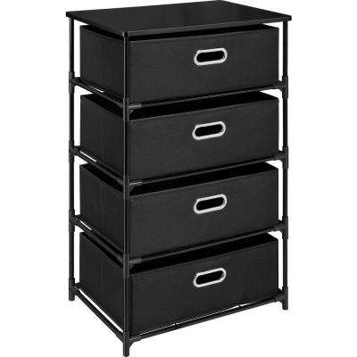 Haley Black 4-Drawer End Table
