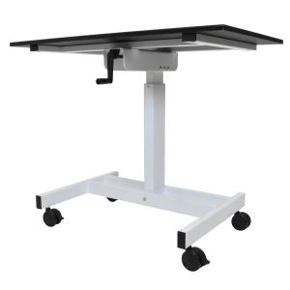 Luxor Black Laptop Desk with WheelsSTANDUPSC40WB The Home Depot