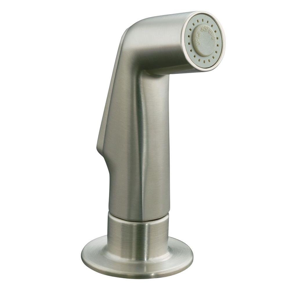 KOHLER Sidespray In Brushed NickelGPBN The Home Depot - Kohler kitchen faucets home depot