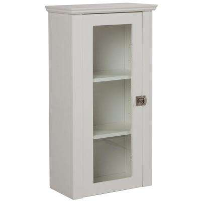 Lamport 17-3/4 in. W x 32-9/10 in. H x 9-1/2 in. D Bathroom Storage Wall Cabinet in White