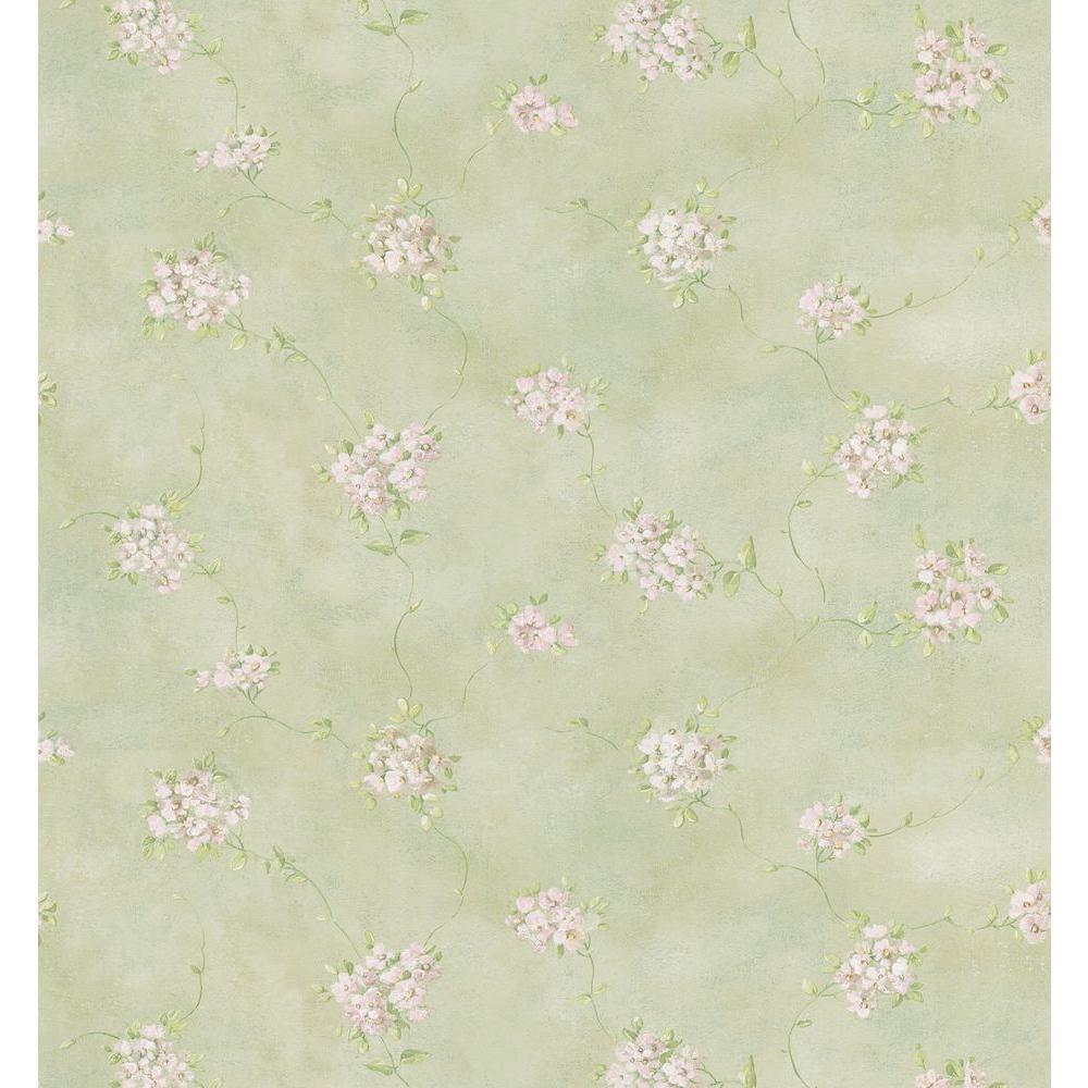 Brewster Misty Floral Wallpaper