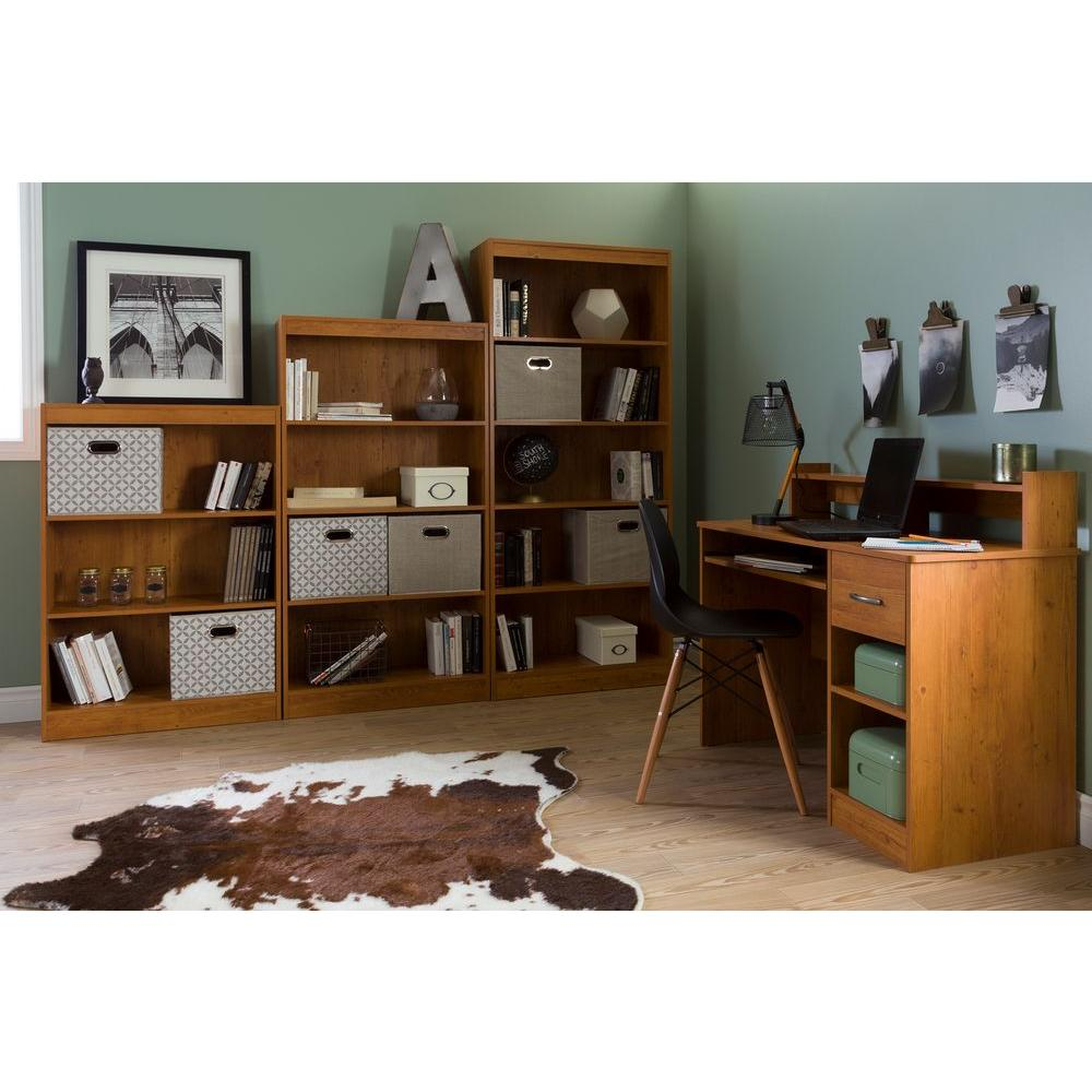 Attractive South Shore Axess Country Pine Desk With Shelving