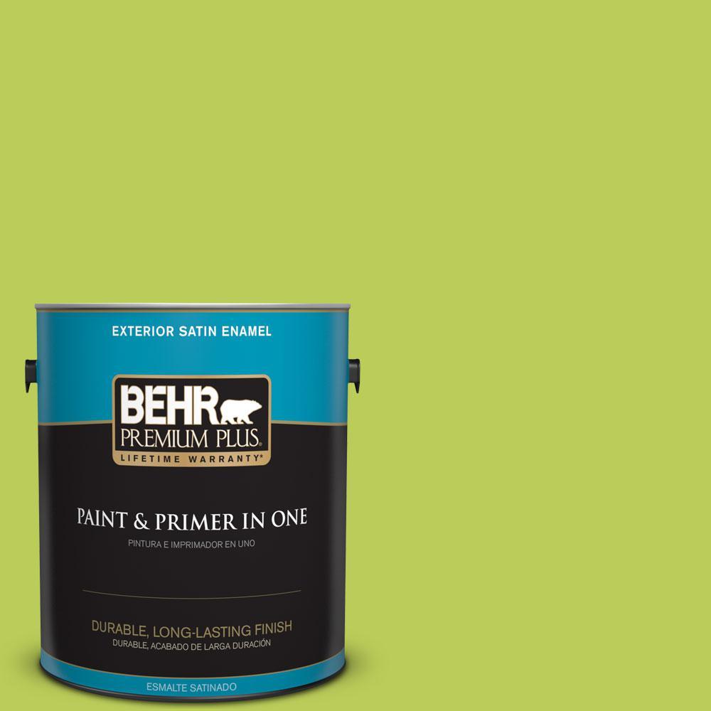 BEHR Premium Plus 1-gal. #410B-5 Hidden Meadow Satin Enamel Exterior Paint