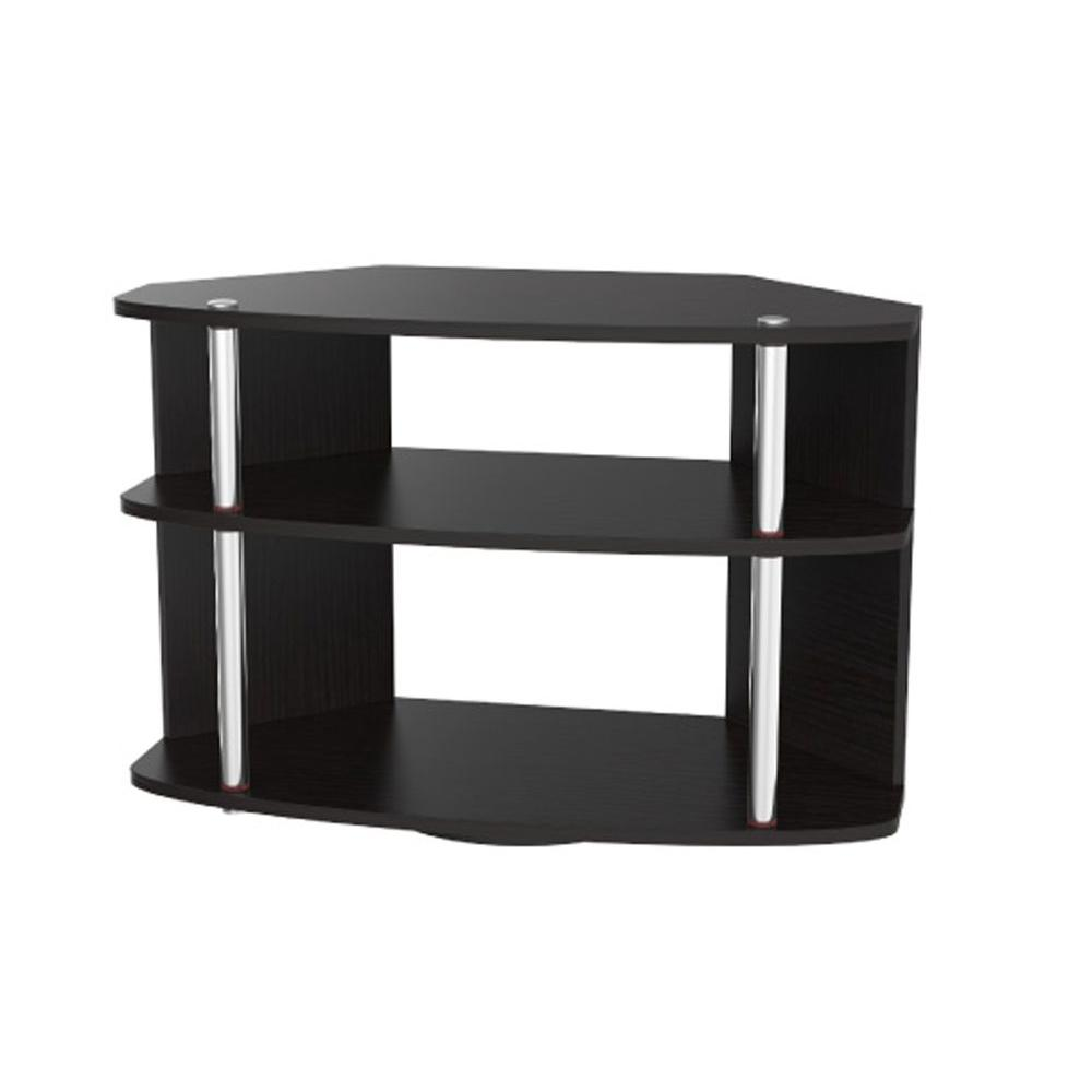 Designs2Go Black Shelved Entertainment Center