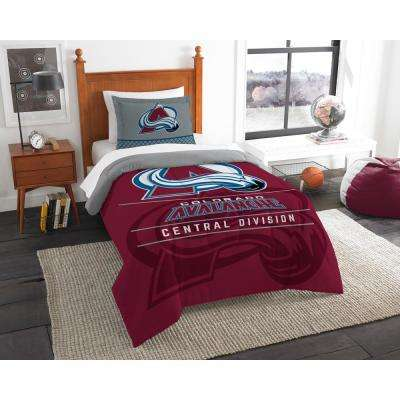 Avalanche Draft 2-Piece Multi-Color Polyester Twin Comforter Set