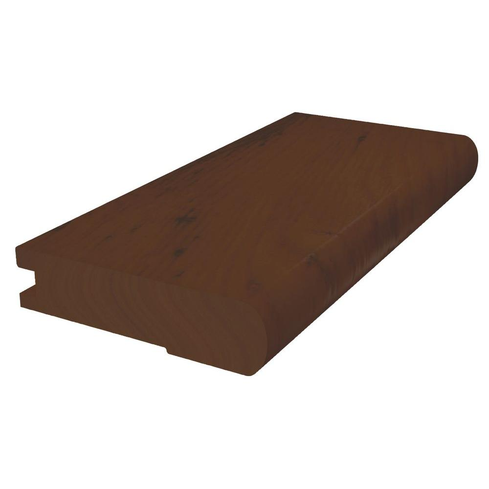 Shaw Appling Suede 3/8 in. x 2 3/4 in. x 78 in. Flush Stairnose Engineered Hickory Hardwood Molding-DISCONTINUED