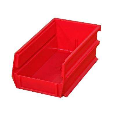 LocBin 14-3/4 in. L x 8-1/4 in. W x 7 in. H Red Stacking, Hanging, Interlocking Polypropylene Bins, 6 CT
