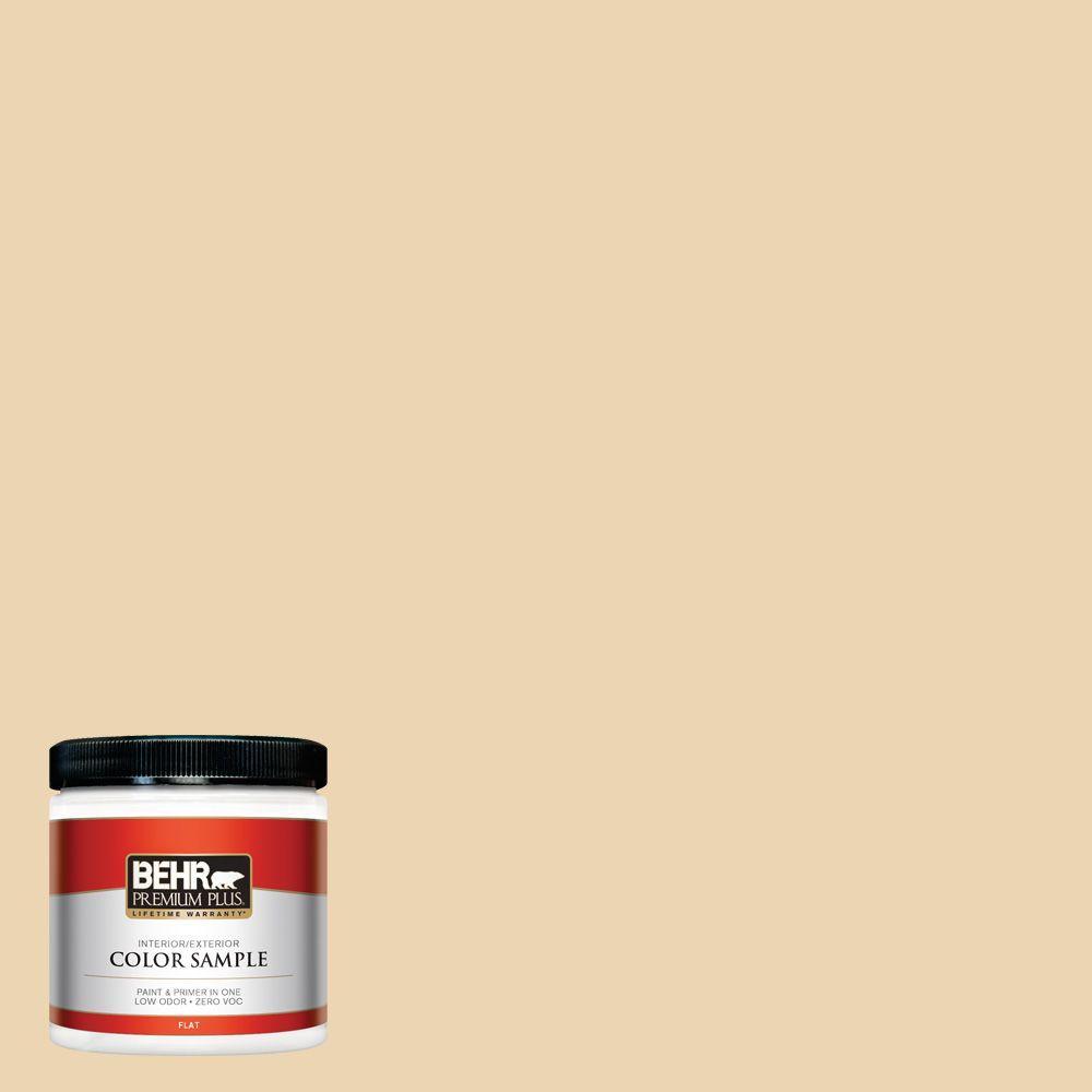 BEHR Premium Plus 8 oz. #340E-3 Bavarian Cream Interior/Exterior Paint Sample