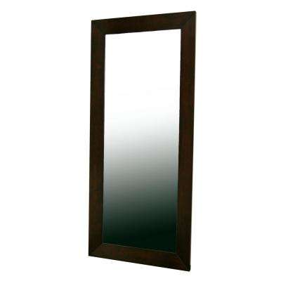 Doniea Contemporary Dark Brown Wood Finished Floor Mirror