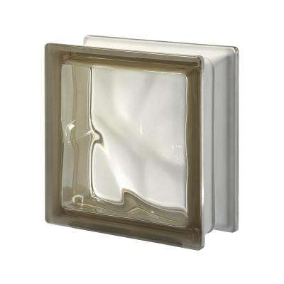 Pegasus Siena Q19 7.48 in. x 7.48 in. x 3.15 in. Wavy Pattern Glass Block (5-Pack)