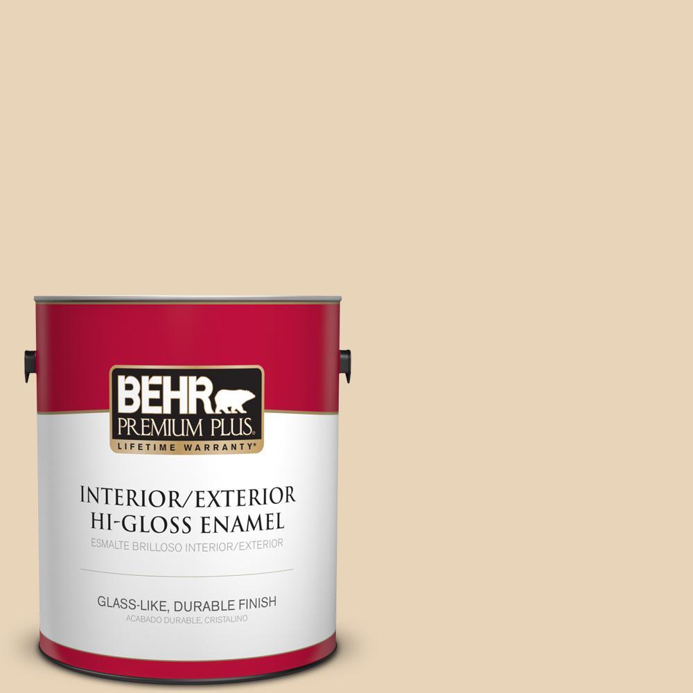 1 gal. #PPU7-18 Sand Pearl Hi-Gloss Enamel Interior/Exterior Paint