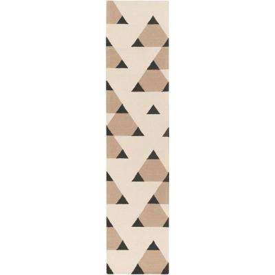 Hilda Brigitte Ivory 2 ft. x 10 ft. Indoor Runner Rug