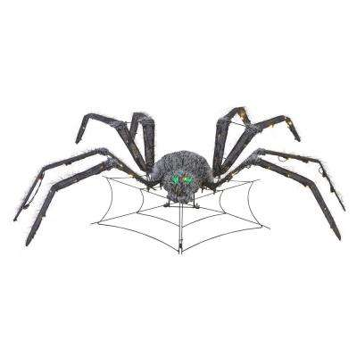 48 in. LED Animated Tinsel Spider