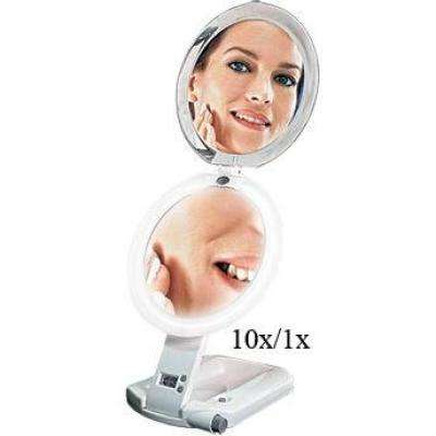 7 in. W x 16 in. H LED Lighted Ultimate Make-Up Mirror in Ivory
