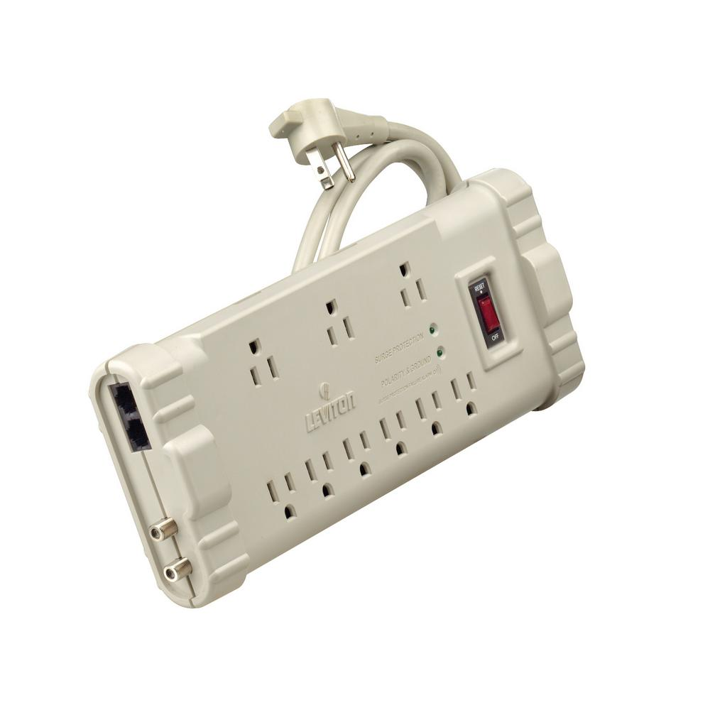 15 Amp Office Grade Surge Protected 9-Outlet Power Strip, 2020 Joules,
