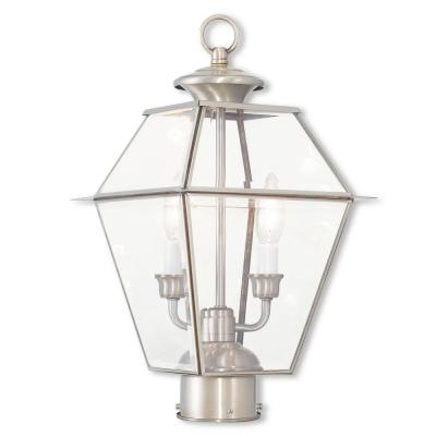Westover 2-Light Outdoor Brushed Nickel Post Light