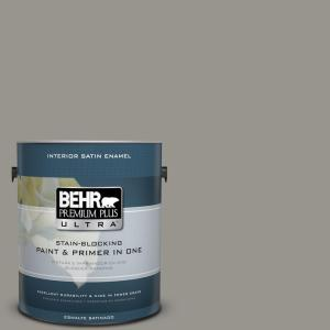 N360 4 Battleship Gray Satin Enamel Interior Paint And Primer In
